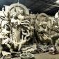 চরফ্যাশনে প্রতিমা কারিগরদের ব্যস্ততা ॥ লালমোহন বিডিনিউজ
